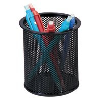 Q-Connect Black Mesh Pen Pot