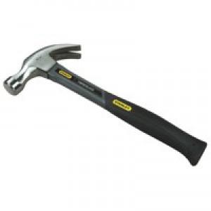 Stanley Grey Fibreglass Claw Hammer 16oz