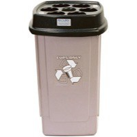 Disposable Cup Bin Black/Silver 367050