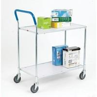 Grey/White Zinc 2 Tier Service Trolley