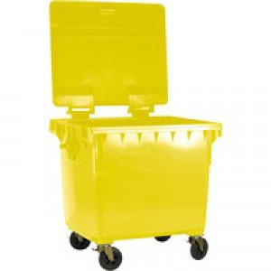 Yellow Wheeled Bin 770 Litre 377389