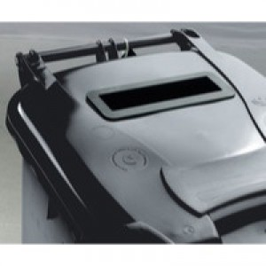 Grey Confidential Wheelie Bin 120Ltr