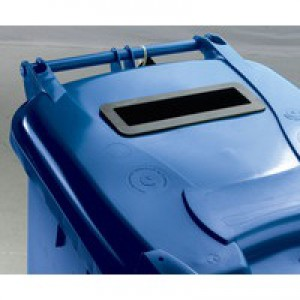 Blue Confidential Wheelie Bin 240 Ltr