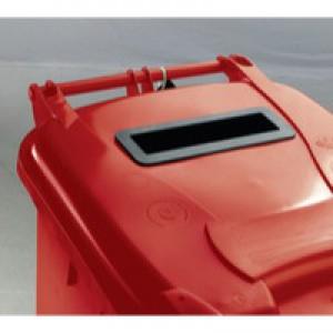 Confidential Waste Wheelie Bin 140Lt Red