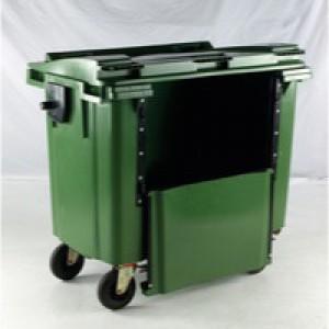 Green Wheeled Bin 770Ltr Drop Down Front