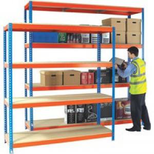 Orange/Zinc H/Duty 240x45cm Shelf 378866