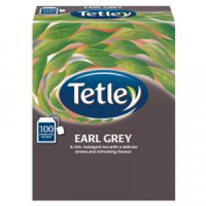 Tetley Tea Bags String and Tag Earl Grey Ref 1243Y [Boxed 100]