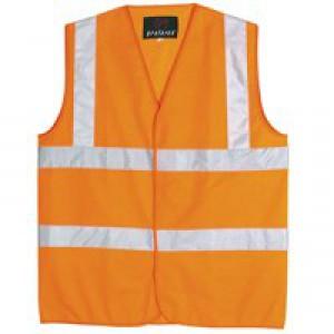 Hi-Viz Vest Orange EN ISO 20471 Med