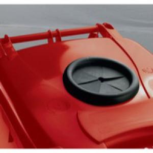 Red Wheelie Bin 240L Bottle Lid Lock