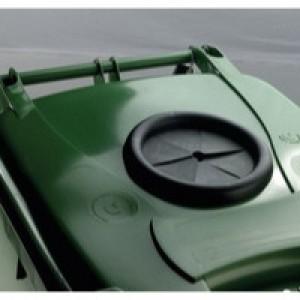 Green Wheelie Bin 360L Bottle Lid Lock