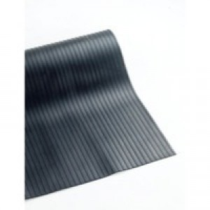 Broad Ribbed Black 3mm 1200mmX10m Mat