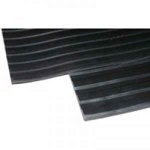 Black Broad 3mm 1200mm Ribbed Matting