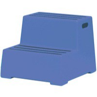 2 Tread Blue Plastic Safety Step