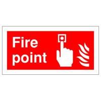 Fire Point 100x200mm Self-Adh Sign