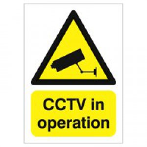 Warning Sign CCTV In Operation A5 PVC