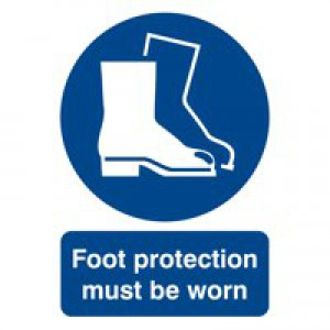 Foot Protection Must be Worn A4 PVC Sign
