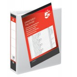 Image for 5 Star Presentation Ring Binder PVC 2 D-Ring 65mm Size A4 White Ref 36148 [Pack 10]
