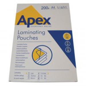 Fellowes Apex A4 Laminating Pouch Pk200
