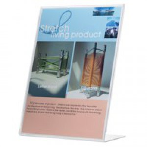 Q-Connect Slanted Sign Holder L-Shape A5