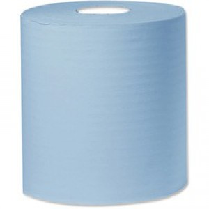 2Work 270mmx400m Blue Bumper Paper Roll