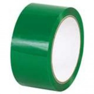 Green Poly Tape 50mmx66m Pk6
