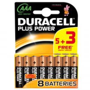 Duracell Plus Power AAA Battery 1.5V Pk8