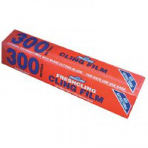 Cling Film Catering Pack Antibacterial 8.5 Microns 300mmx300m Blue Tint