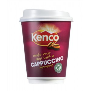 Kenco2Go Instant Cappuccino Coffee Drink in a 12oz (340ml) Cup Ref 4032275 [Pack 8]