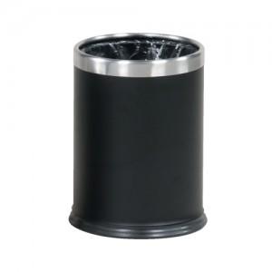 Rubbermaid Bin Hideabag Stainless Steel 13.2 Litres W241xH318mm Black Ref FGWHB14SS