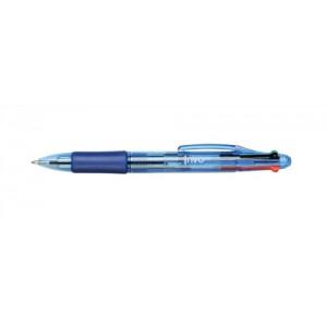 5 Star Office Ball Pen 4-Colour 1.0mm Tip 0.5mm Line Black Blue Red Green [Pack 12]