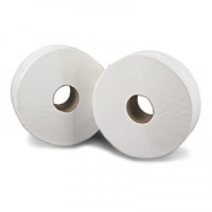 2Work White Jumbo Roll 2 Ply Pk6