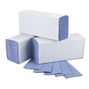 2Work M Fold Hand Towel 1Ply Blue Pk3000