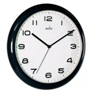 Image for Acctim Aylesbury Wall Clock Blk 92/302