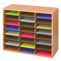 Safco 24 Part Literature Organiser Oak