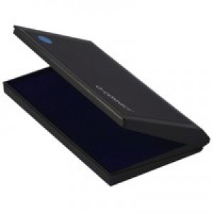 Q-Connect Blue Lge Stamp Pad Metal Case