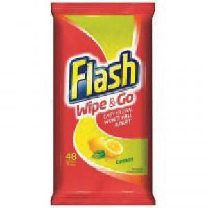 Flash Wipe  Go Lemon Wipes Pk40