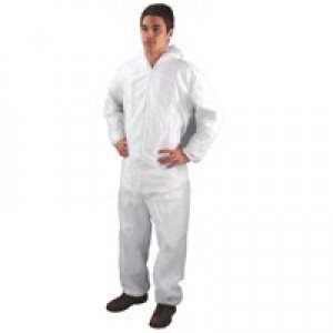 Medium White Non-Woven Coverall DC03