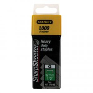 Image for Stanley 12mm Staples Pk1000 1-Tra708T (0)