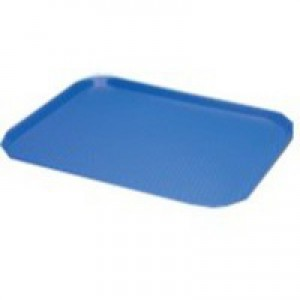 Blue Tea Tray Plain 445x330mm