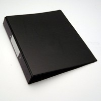 Black A4 2Ring Ring Binder Pk10