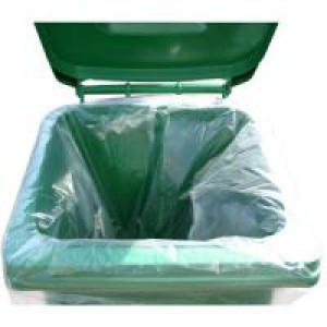 Image for 2Work Wheelie Bin Liner Clr 270L Pk100 (0)