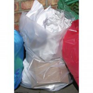 Image for 2Work Clear Refuse Bags Roll Pk50X5 (0)
