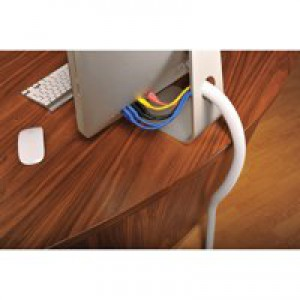 D-Line White 32mm Flexi Tube Cable Tidy