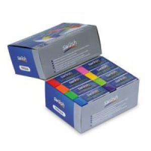 Swash Premium Colour Pencil Erasers Pk32