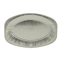 Robinson Young Caterpack Food Platter Foil Oval 430mm Ref RY03891 [Pack 3]
