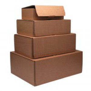 Brown 250x175x80mm Mailing Box Pk20
