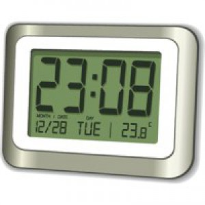 Digital LCD Clock 12/24 Hour Count Down Timer Thermometer