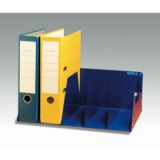 Image for Rotadex 5-Section Lever Arch File Rack Blue LAR/5