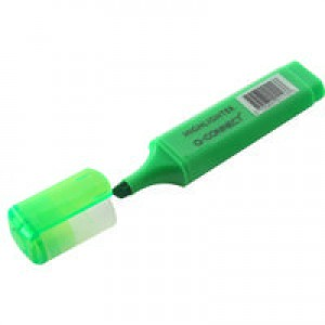 Q-Connect Green Highlighter Pen Pk10