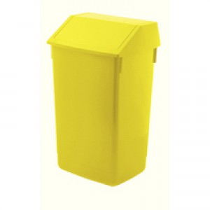 Addis Yellow Base 60 Ltr Flip Top Bin